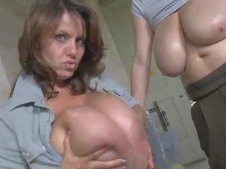 Milena Velba Sucking Huge Milky Tits